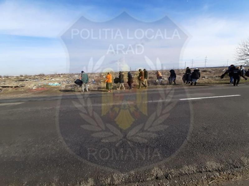 Acțiunile de igienizare în municipiul Arad! 20 de persoane beneficiare ale venitului minim garantat au efectuat muncă în folosul comunității