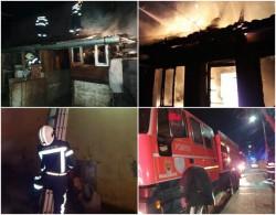 Două incendii violente în Arad! Pompierii au intervenit ore în șir pentru a le stinge