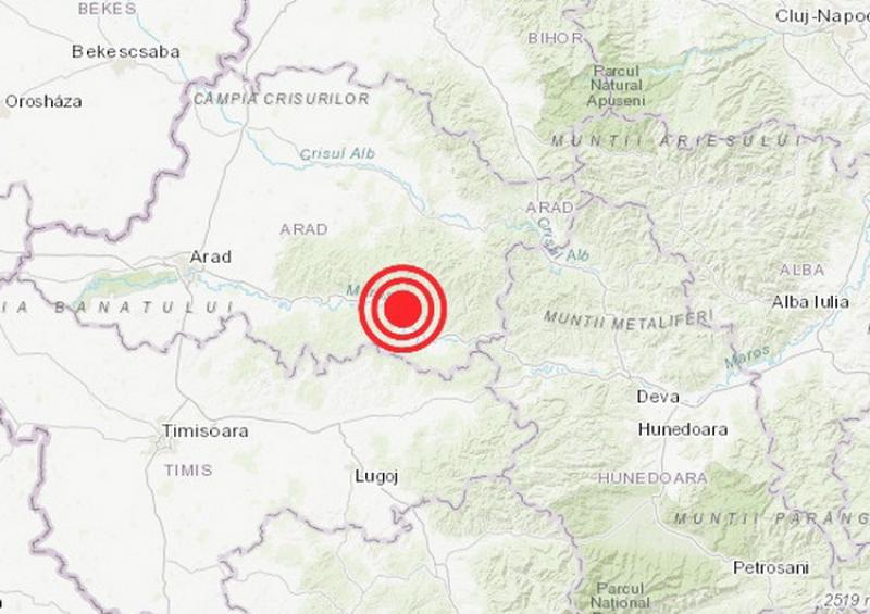 Cutremur cu magnitudinea 2,0 pe scara Richter a avut loc marți, în județul Arad
