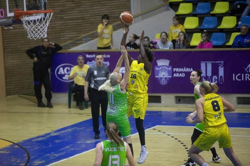 FCC Baschet Arad a cedat derby-ul etapei în faţa celor de la Sepsi SIC Sf. Gheorghe