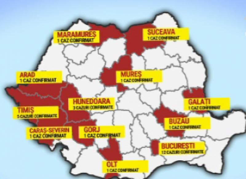 Numărul îmbolnăvirilor a ajuns la 31, miercuri 11 martie
