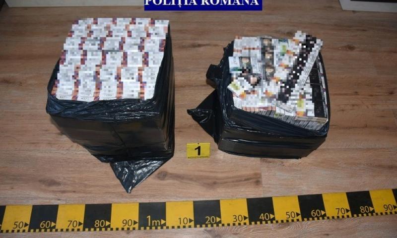 Polițiștii arădeni au găsit țigări de contrabandă în valoare de sute de mii de lei