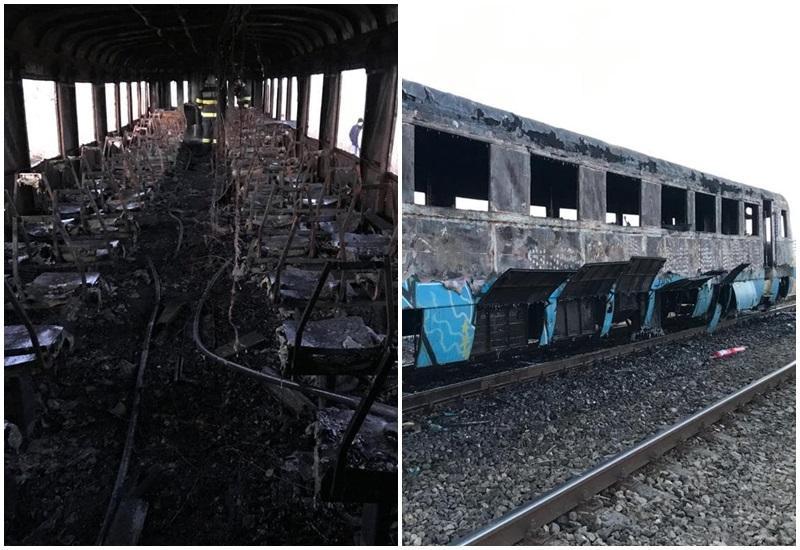 Un tren Regio a luat foc între localitățile Sântana și Zimand