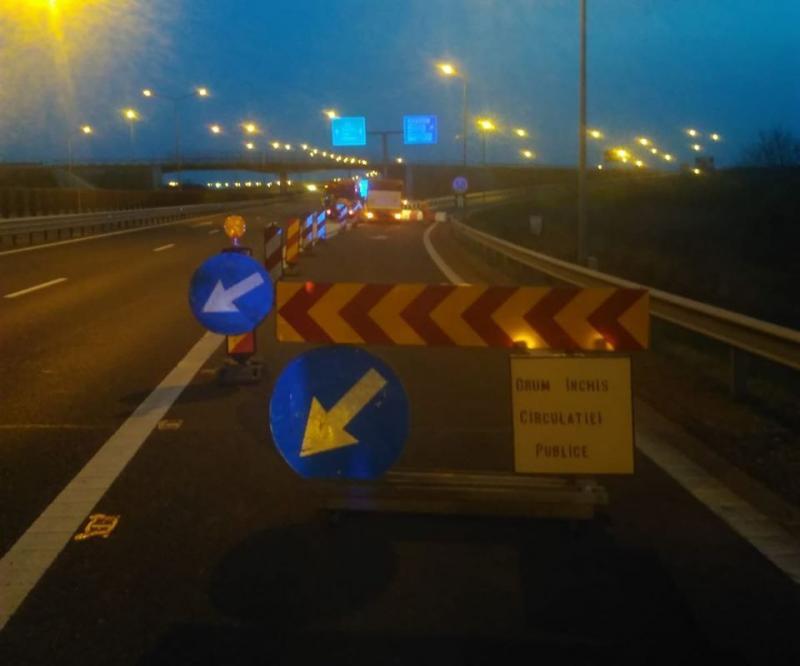 Coborârile de pe autostradă de la Aeroport şi spre Zădăreni blocate de joi seara