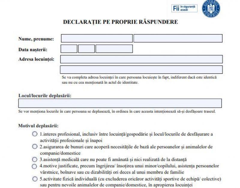 Ai posibilitatea de a completa declaraţia pe propie răspundere online pe o platformă creată de STS!