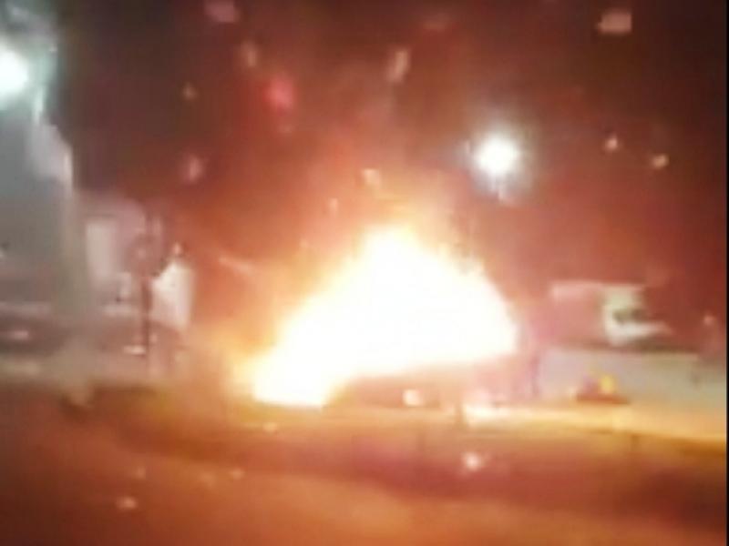 O mașină s-a făcut scrum, la Timișoara