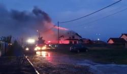 Incendiu la o casă din Vladimirescu