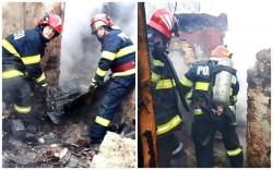 Incendiu generalizat la o construcţie de pe strada Mărului