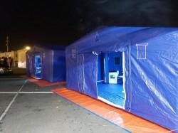 Şapte corturi amplasate la vama Nădlac pentru verificarea celor care intră în ţară