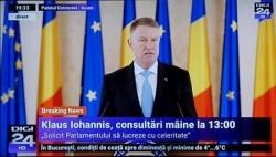 Klaus Iohannis consultări cu partidele vineri pentru desemnarea unui nou premier