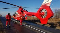 Accident cu victimă încarcerată între Joia Mare şi Almaş! Intervine elicopterul SMURD!