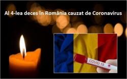 România înregistrează al patrulea deces cauzat de COVID 19!