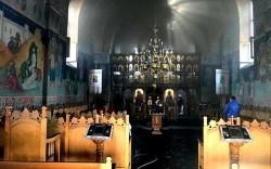 Biserica Ortodoxă din Gai a luat foc