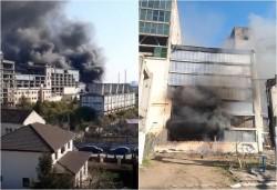Al treilea incendiu major în cartierul GAI într-o săptămână. Incendiu la fosta fabrică de zahăr
