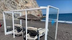 Au apărut primele imagini de pe o plajă din Grecia pe timp de Covid-19