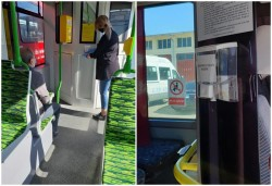 Dispozitive cu dezinfectant în mijloacele de transport în comun din Arad