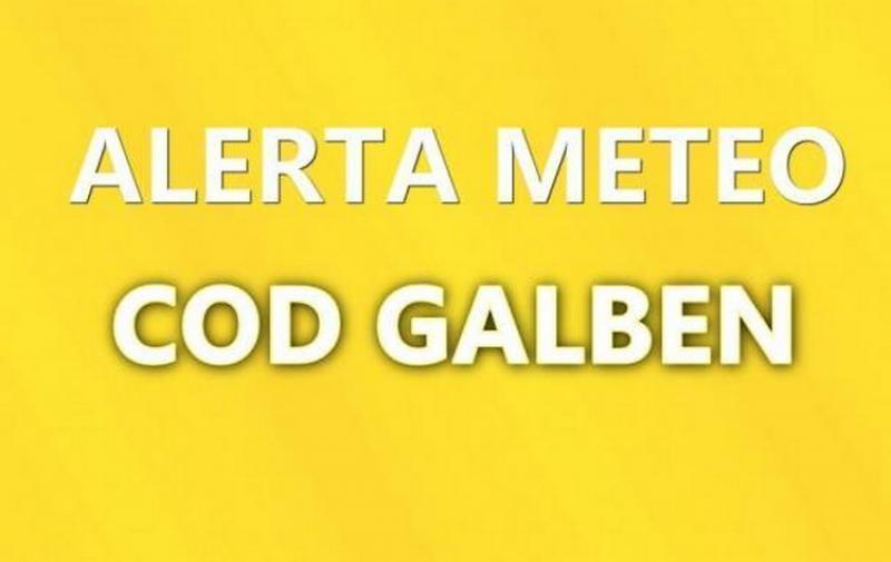 Alertă Meteo! Cod Galben de instabilitate atmosferică accentuată  pentru în toata ţara
