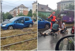 Accident cu victimă și trafic blocat pe Iuliu Maniu