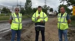 Au început lucrările pe drumul Arad-Șiria, cel mai circulat drum din județ