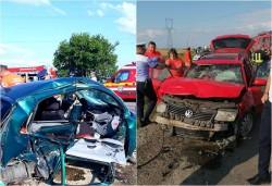 Accident grav între Sântana şi Zimandu Nou cu victimă încarcerată. Intervine elicopterul SMURD!