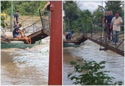 Podul de pontoane de la Trei Insule în pericol să se rupă și să lase insula izolată