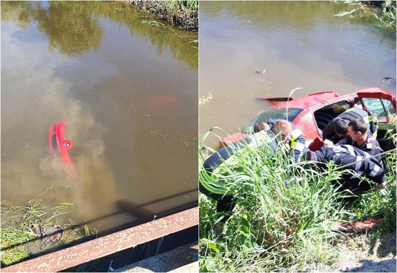 Autoturism căzut în Canalul Morilor între Olari si Sintea Mică - două persoane decedate!