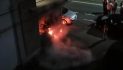 Terasa Pizzeriei Mia de pe Calea Romanilor incendiată în cursul nopţii trecute