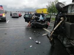Accident cu şase victime pe A1 aproape de vama Nădlac