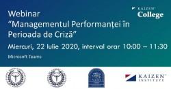 Managementul Performanței în Perioada de Criză
