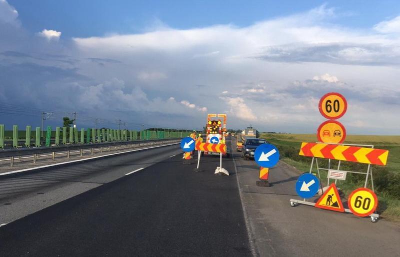 Atenție Șoferi ! Lucrări pe autostrada A1 spre Nădlac în zona municipiului Arad