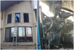 Trei incendii joi seara în Arad