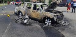 Accident rutier grav la Felnac urmat de incendiu şi decesul unuia dintre victime