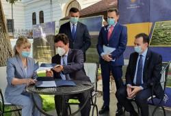 A fost semnat protocolul pentru centura de sud-est a municipiului Arad, un tronson de 11 km şi un pod peste Mureş
