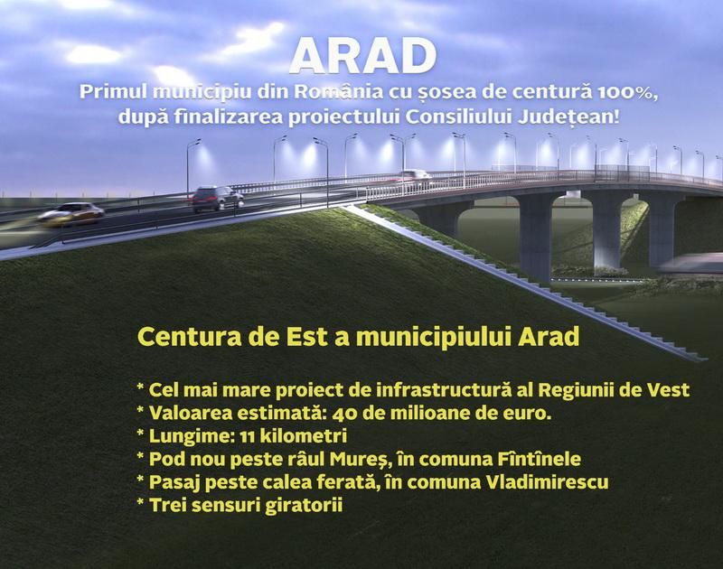 Un succes al administrației PNL: Aradul devine primul municipiu din România cu șosea de centură 100% finalizată! (P)