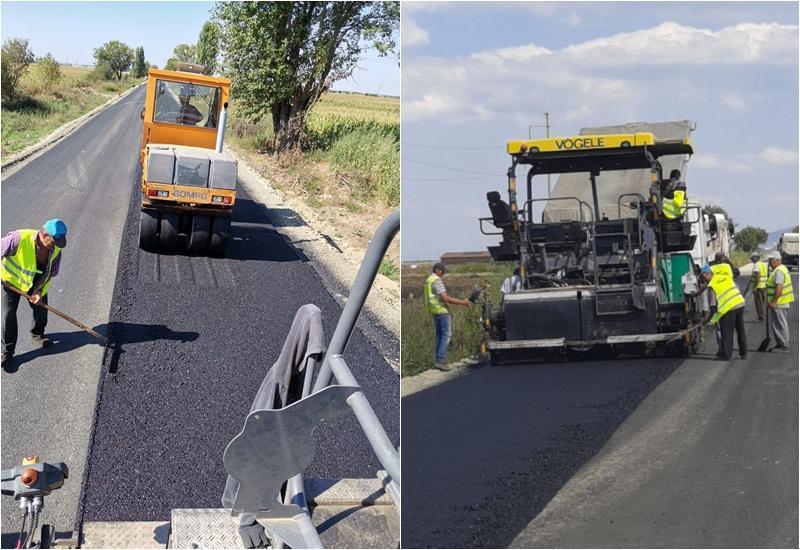 Se asfaltează zilnic pe Arad-Pâncota