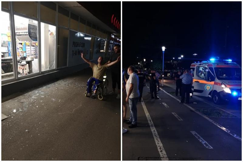 Zona Gării, raiul oamenilor străzii, din nou scena unui episod idiot. Un om al străzii a spart vitrinele unui magazin luni noaptea, însă în afară de amendă, polițiștii nu au ce să-i facă