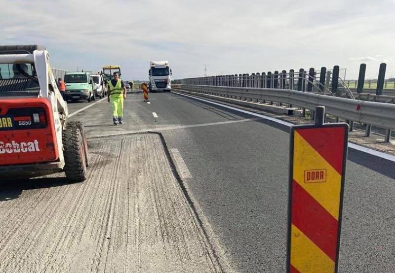 Atenţie Şoferi! Patru zone cu restricții pe A1 între Giarmata și Pecica