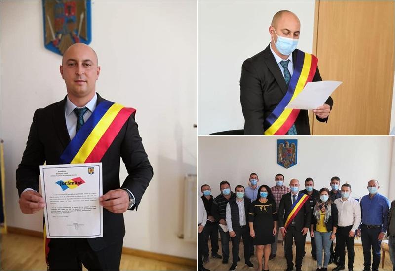 Ciprian Otlăcan și-a preluat noul mandat de primar al comunei Macea