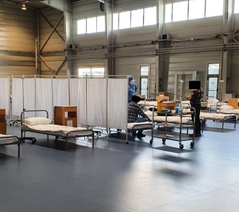 361 de arădeni, diagnosticati cu virusul SARS CoV-2 săptămâna trecută, la Spitalul de Campanie de la Expo Arad