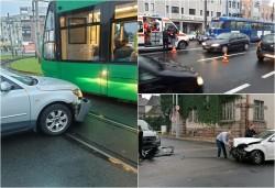 Trei accidente joi dimineaţa în municipiul Arad