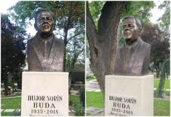 Bustul lui Buda Bujor a fost amplasat în parcul care-i poartă numele