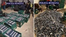 Percheziţiile de joi la traficanţii de ţigări s-au lăsat cu 4 reţineri, zece cercetaţi penal şi zeci de mii de pachete confiscate