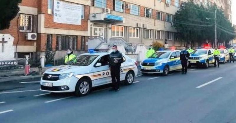 Moment de reculegere a poliţiştilor arădeni pentru un coleg răpus de COVID-19