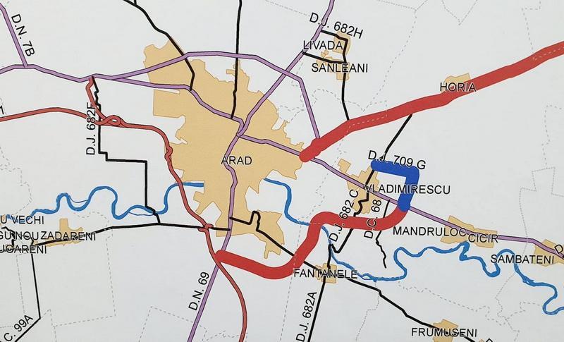 Centura de est a Aradului a fost depusă pentru finanțare europeană