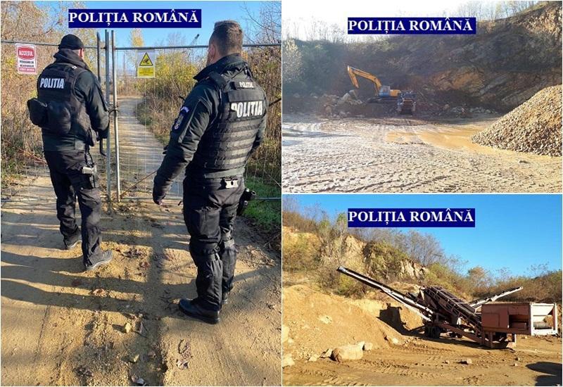 Dosar penal de pentru activități miniere ilegale în Lipova