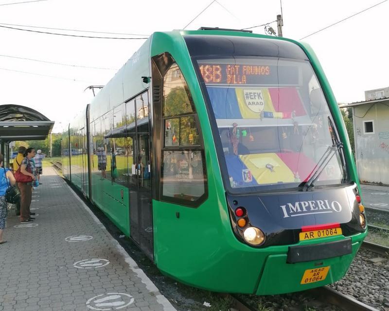 Tramvaie noi în Arad, autobuze electrice şi reducerea poluării în trafic(P)