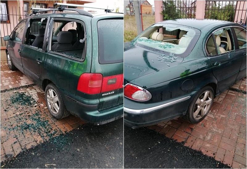 Maşinile fostului preşedinte C. J. Arad, Adrian Ţolea, vandalizate în faţa casei din Livada