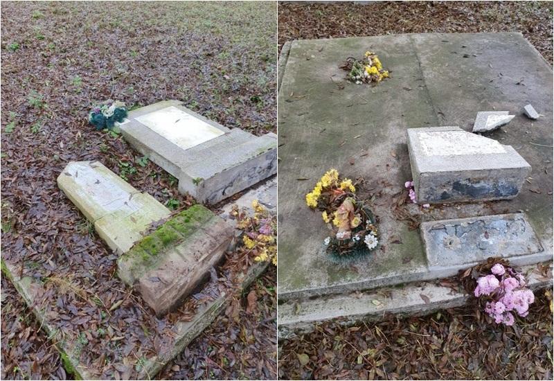Mai multe morminte dintr-un cimitir arădean vandalizate sâmbătă după amiaza
