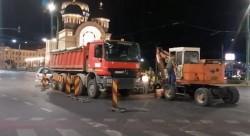 Se reia lucrarea la magistrala de apă potabilă din Piaţa Podgoria