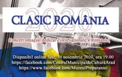Clasic România 2020 – eveniment online dedicat Zilei Naționale a României, la Arad